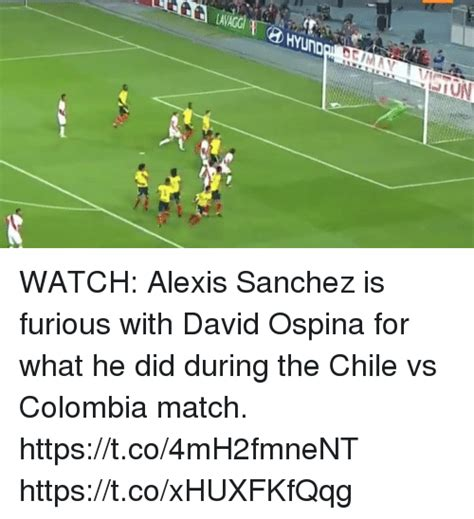 alexis sanchez david ospina watch alexis sanchez is furious with david ospina for what