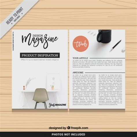 design magazine template vector free download