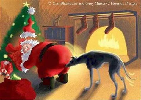 merry christmas greyhound art grey hound dog dogs italian greyhound