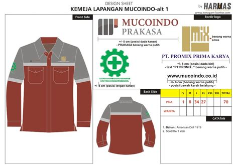 seragam kerja tambang konveksi seragam kantor pakaian