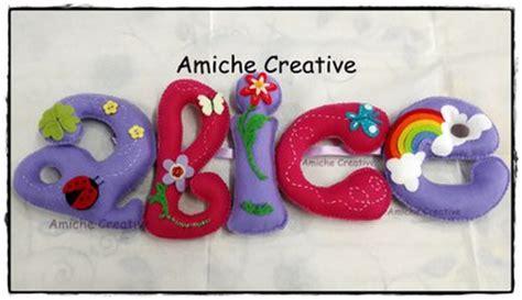 lettere pannolenci lettere e nomi ricamati e personalizzati in pannolenci