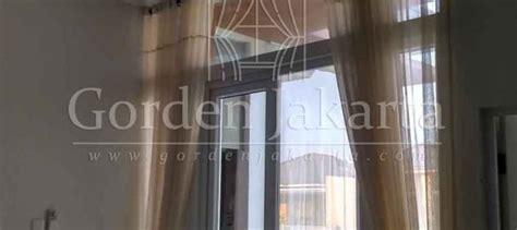 Gorden Cibubur Contoh Vitrage Untuk Jendela Pintu Warna Coklat Di Cibubur