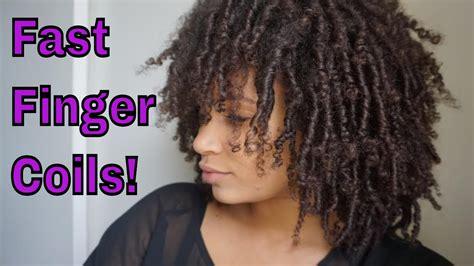 how long do finger coils last natural hair how to do finger coils fast youtube