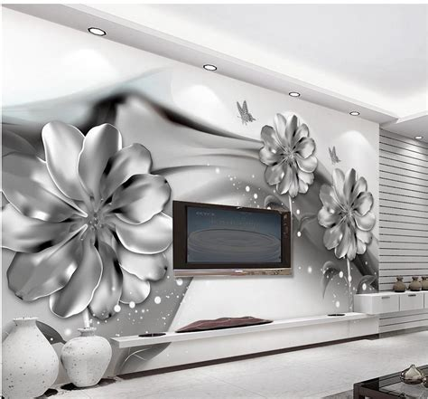 black and white wall mural aliexpress buy 3d wall murals wallpaper black and