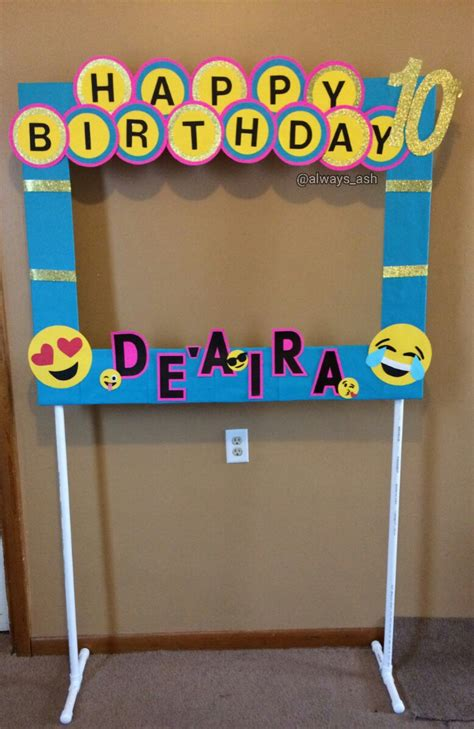 Diy Emoji Photo Booth Frame Party Decorations All Custom