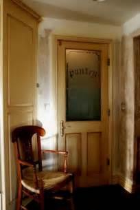 pantry door half glass half wood interior doors