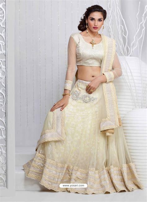 Buy Off White Net Designer Lehenga Choli   Lehenga Choli