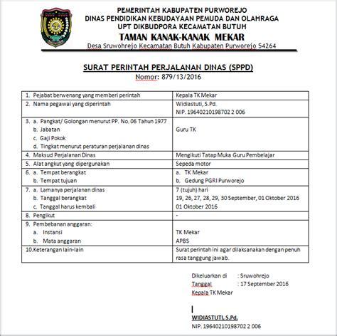 Contoh Surat Perjalanan Dinas by Contoh Surat Tugas Dan Sppd Terbaru Paxdhe Mboxdhe