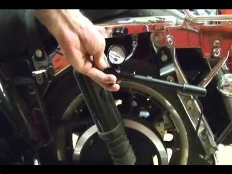 motorcycle repair adjusting  rear suspension air