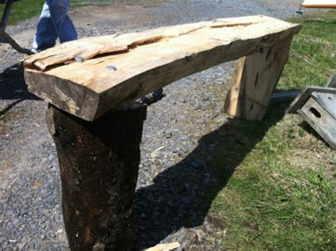 building a log bench ways to upcycle logs and tree branches home design
