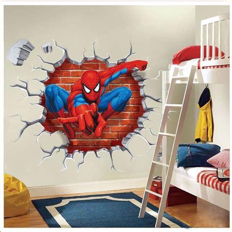 superhero wall decorations a superhero wall decor 3d super hero spider man wall sticker decals kids baby