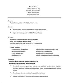physical therapy resume template physical therapist resume 5 free word pdf documents