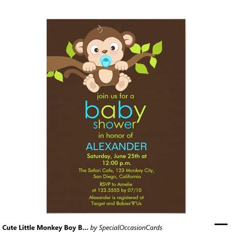 Monkey Baby Showers by Monkey Boy Baby Shower Invitation Boy Baby
