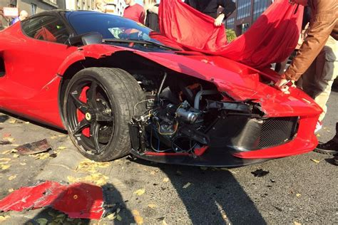 laferrari crash updated laferrari crash driver loses control in budapest