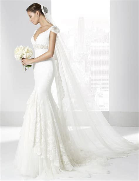 imagenes de vestidos de novia 2016 vestidos de novia l 237 nea sirena en tul plumeti y doble falda