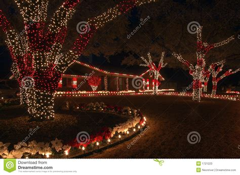 red and white christmas lights stock image image 1721223