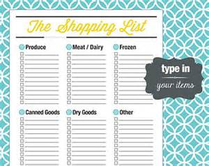 Editable Grocery List Template Grocery List Word 7 Grocery List Template Word 1000