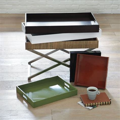 Lacquer Trays For Ottomans 22 24 Square Lacquer Trays For End Tables