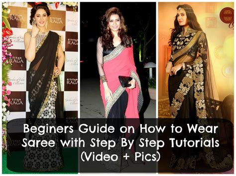 how to drape a sari step by step how to wear saree tutorial step by step guide to drape saree
