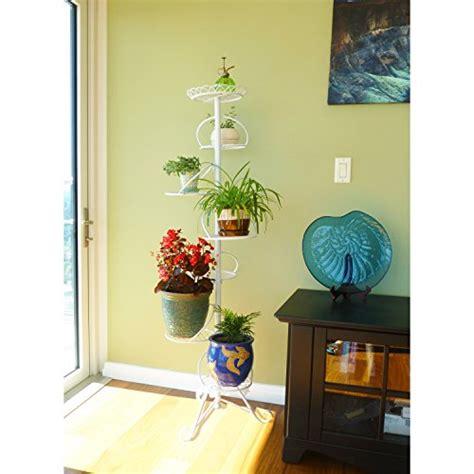 white spiral design  tier metal planter holder display