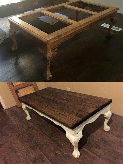 replace glass in coffee table with something else redo coffee table with wooden top instead of glass home
