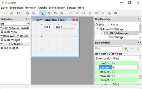 qtabwidget tutorial qtbug 56608 qtabwidget documentmode true ignores