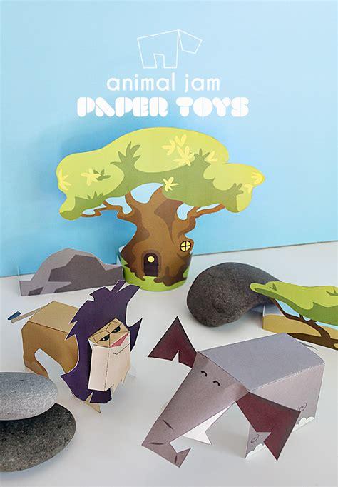 printable animal toys animal jam paper toy printables appondale jam online
