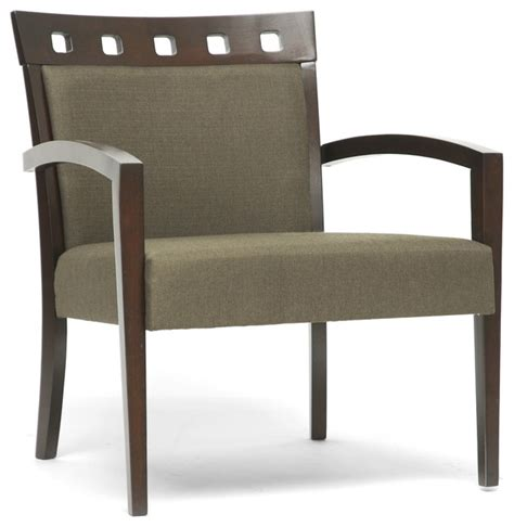 Modern Accent Chairs For Living Room Carmela Green Brown Modern Accent Chair Contemporary Living Room Chairs By Overstock