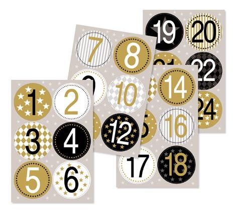 Aufkleber Zahlen Gold by Adventskalenderzahlen Sticker Gold