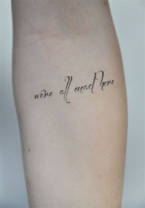 temporary tattoo quotes uk temporary tattoo quote tattoo temporary alice in