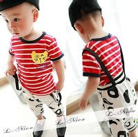 Setelan Sz 1th baju bayi dan anak baju anak laki laki