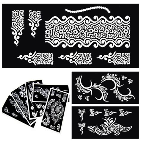 tattoo stencil printer india 30 pieces indian henna tattoo stencils for painting mehndi