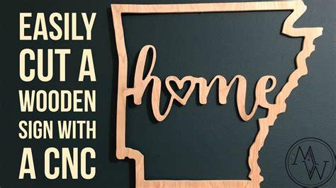 quick cutout   wooden arkansas home sign