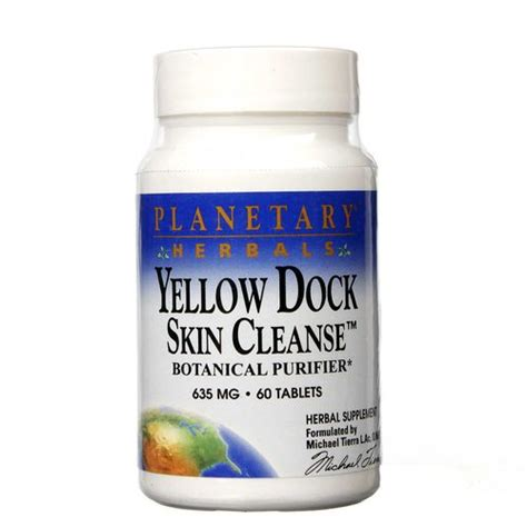 Skin Detox Plan by Planetary Herbals Yellow Dock Skin Cleanse 60 Tablets