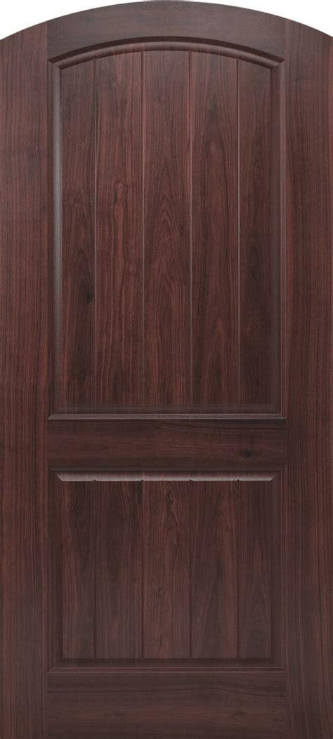 krosscore cherry two panel top rail arch interior door at home depot inside doors house tops products and planks on pinterest