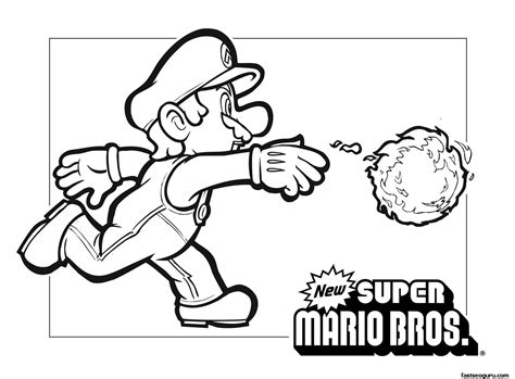 Print Out Coloring Page Mario Coloring Pages To Print Out