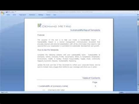Sustainability Report Template Youtube Sustainability Report Template