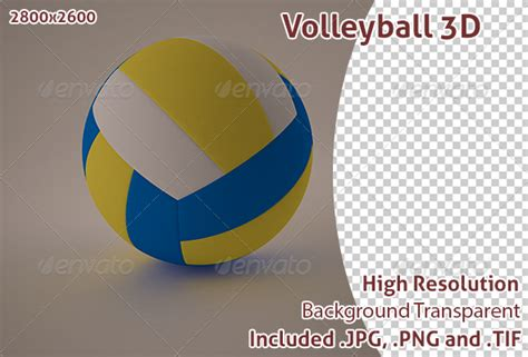 powerpoint themes volleyball volleyball 3d by oscalber graphicriver