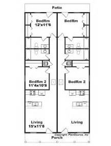 duplex floor plans for narrow lots narrow lot duplex j1690 15d
