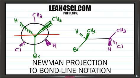 Drawing Newman Projections by Newman Projection To Bond Line Notation Trick Leah4sci