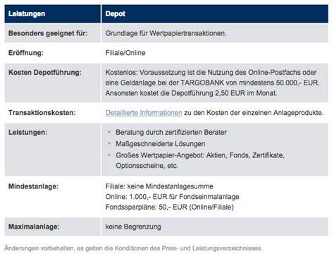 targo bank test targobank test musterdepot er 246 ffnen