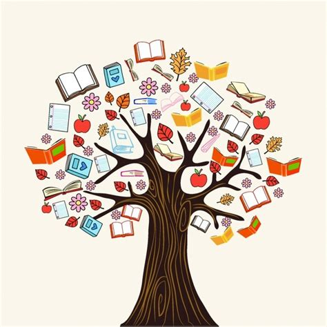 The Art Of Children S Picture Books Tree Houses   diversity knowledge book tree free vector in adobe