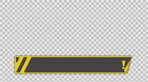 banner sticker empty lower third banner animation png