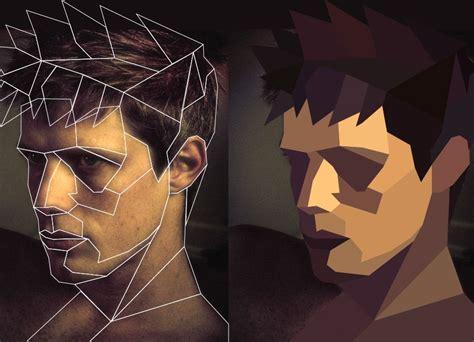 tutorial vector polygon polygon portrait poster tutorial graphic inspiration