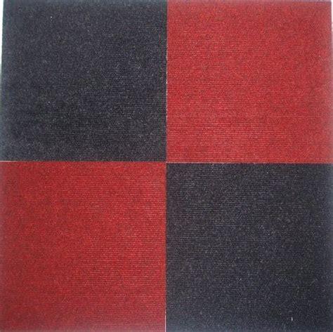peel  stick carpet tiles red    square feet