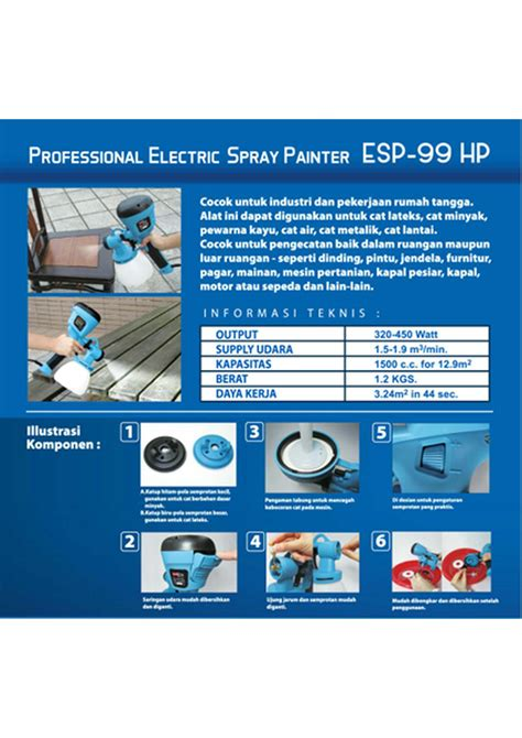 Multipro Esp 99hp harga multipro esp 99hp spray gun elektrik