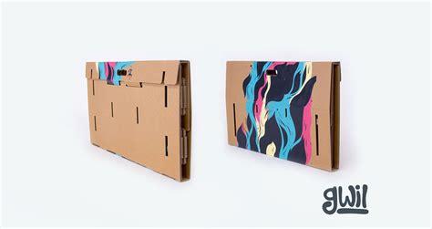tavolo cartone una scrivania di cartone portatile riciclabile e