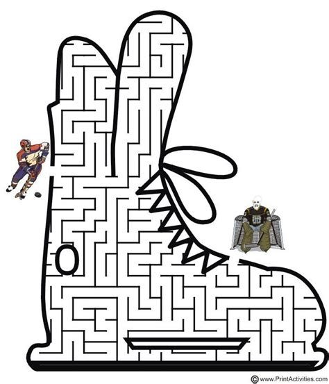 printable hockey mazes 1000 images about sports puzzles on pinterest early