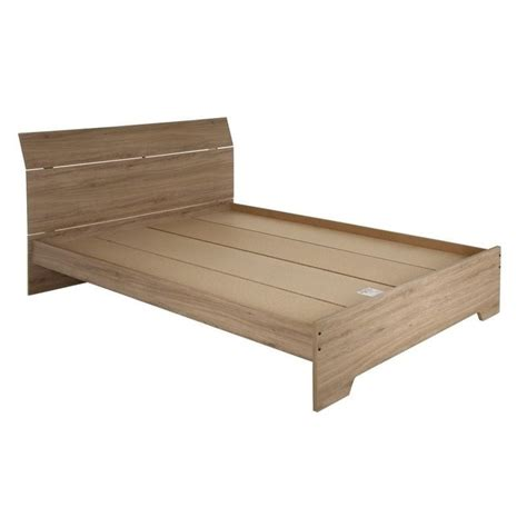 oak platform bed south shore vito queen wood platform bed in rustic oak