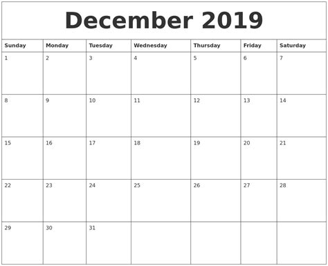 december  calendar pages